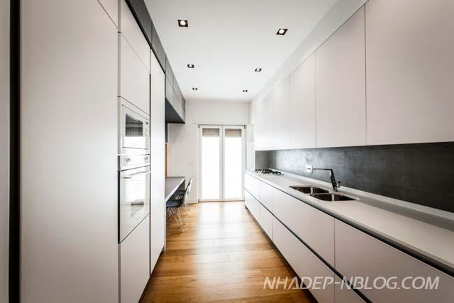 Căn hộ chung cư đẹp với nội thất đá và gỗ ấm áp