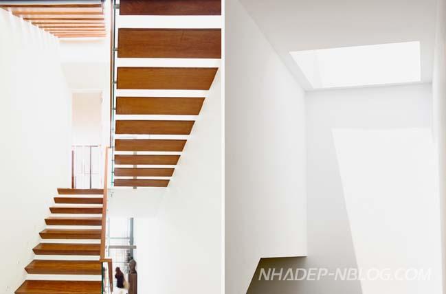 Thiết kế nhà đẹp 3 tầng với mặt tiền biến đổi