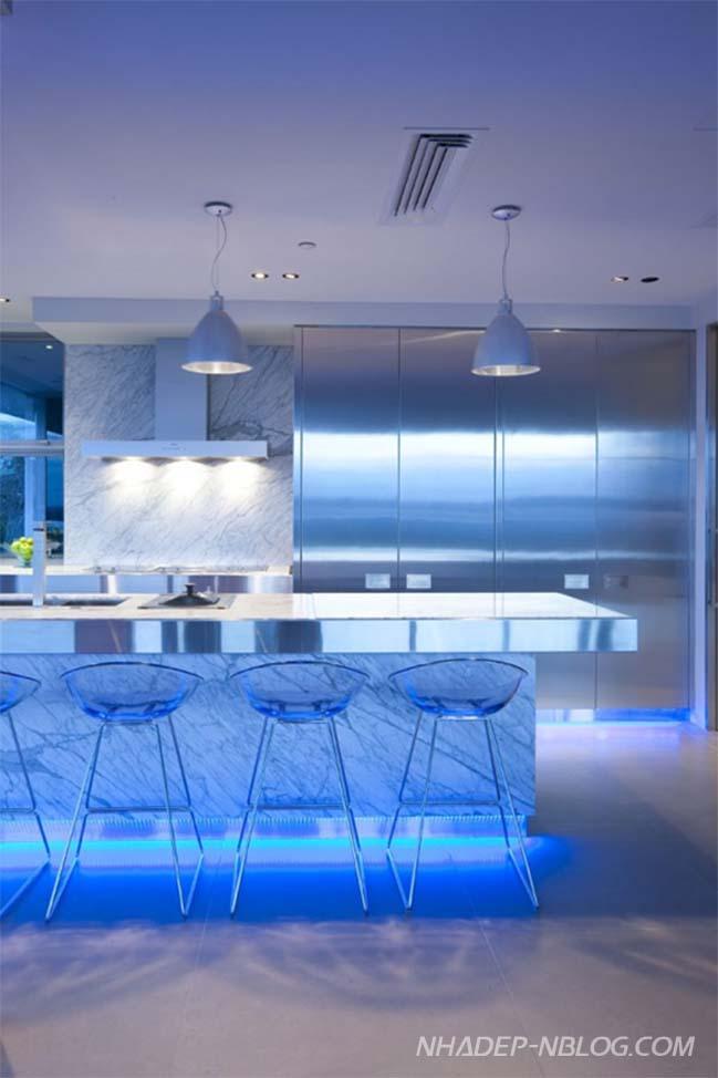 12 mẫu thiết kế nhà bếp đẹp với đèn LED