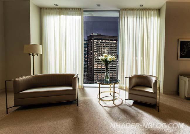 Ngắm căn hộ penthouse sang trọng trong phim 50 sắc thái