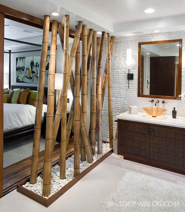 Những mẫu phòng tắm đẹp với vật liệu tre tự nhiên