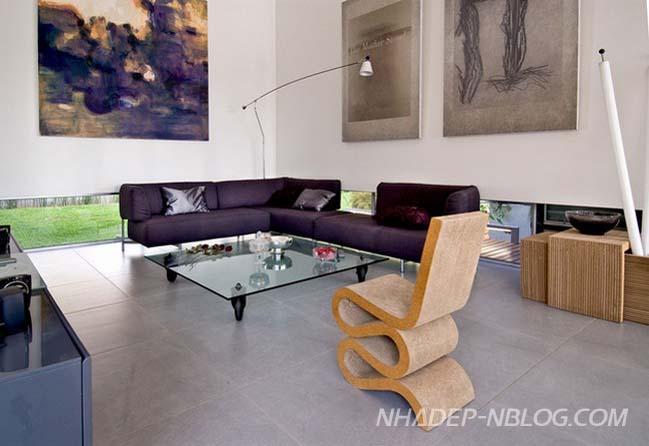 Biệt thự đẹp hiện đại với gỗ và bê tông