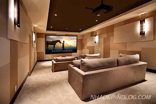 Những mẫu thiết kế rạp chiếu phim tại gia cho bạn