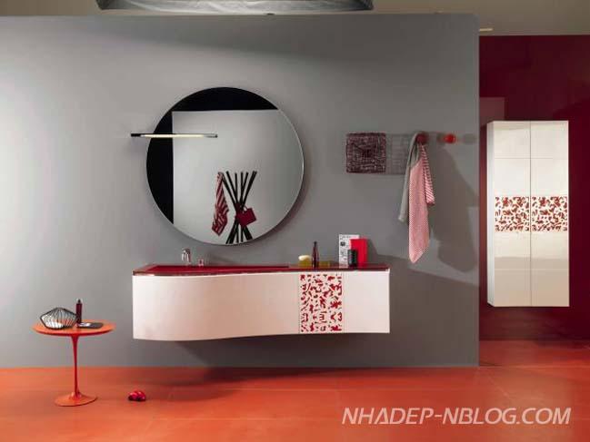 Những mẫu phòng tắm đẹp với màu sắc sặc sỡ