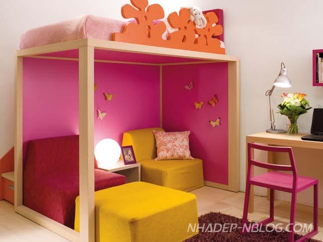 Những thiết kế đầy màu sắc cho phòng ngủ của bé