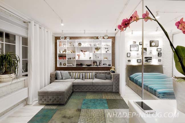 Mẫu thiết kế căn hộ nhỏ đẹp 54m2