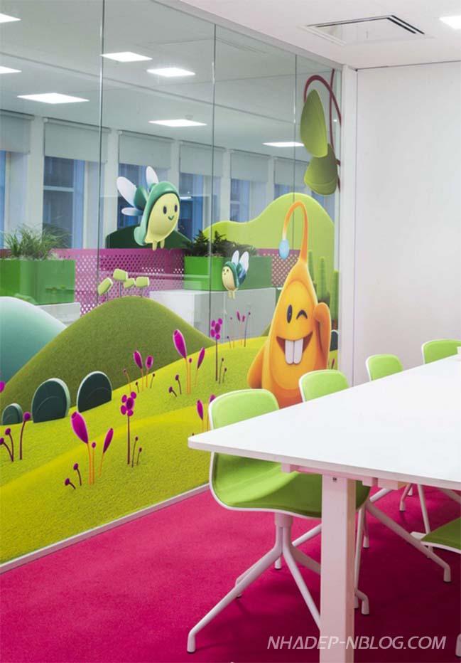 Thiết kế đầy màu sắc của công ty trò chơi Candy Crush