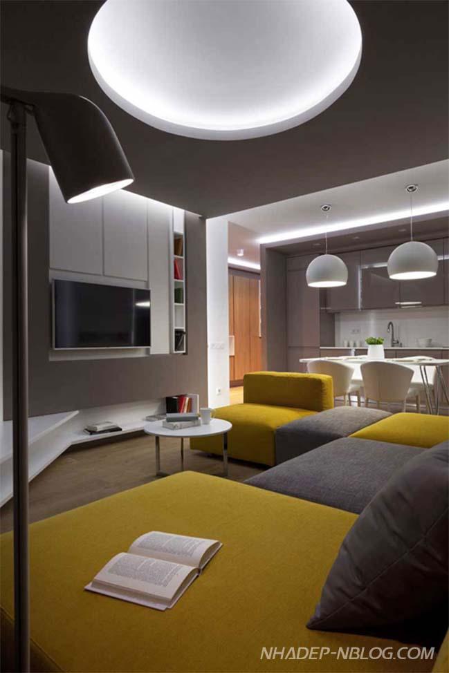 Mãn nhãn với thiết kế nội thất chung cư sang trọng