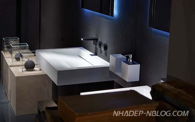 Thiết kế phòng tắm đẹp với hiệu ứng ánh sáng