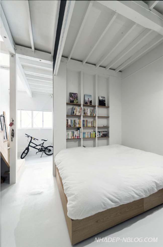 Ngôi nhà phố nhỏ đẹp 2 tầng gọn gàng và thông thoáng