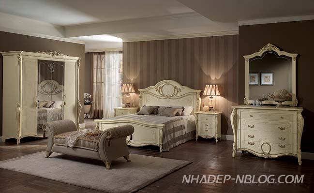 Mẫu phòng ngủ đẹp với thiết kế cổ điển sang trọng