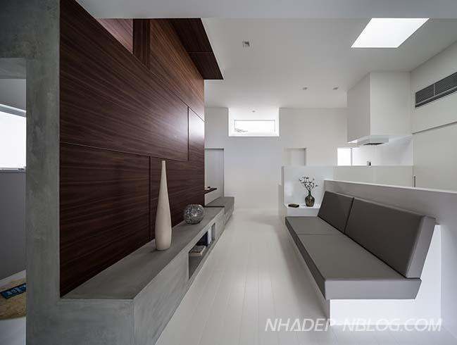 Nhà phố đẹp 2 tầng với thiết kế siêu tối giản