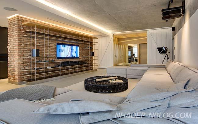 Căn hộ chung cư 2 phòng ngủ với thiết kế hiện đại