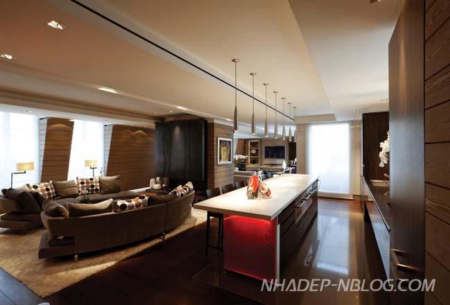 Căn hộ penthouse với thiết kế 2 tầng sang trọng