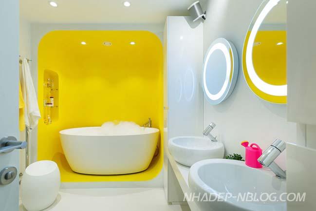 Căn hộ chung cư với thiết kế nội thất đầy sắc màu