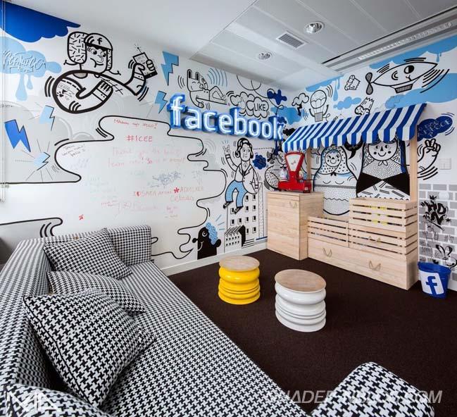 Thiết kế đặc trưng của văn phòng Facebook tại Ba Lan