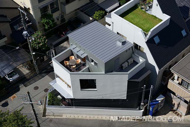 Thiết kế nhà phố đẹp trên khu đất hình tam giác