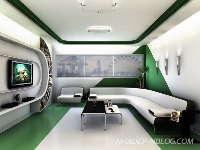 18 mẫu phòng khách đẹp với thiết kế vị lai