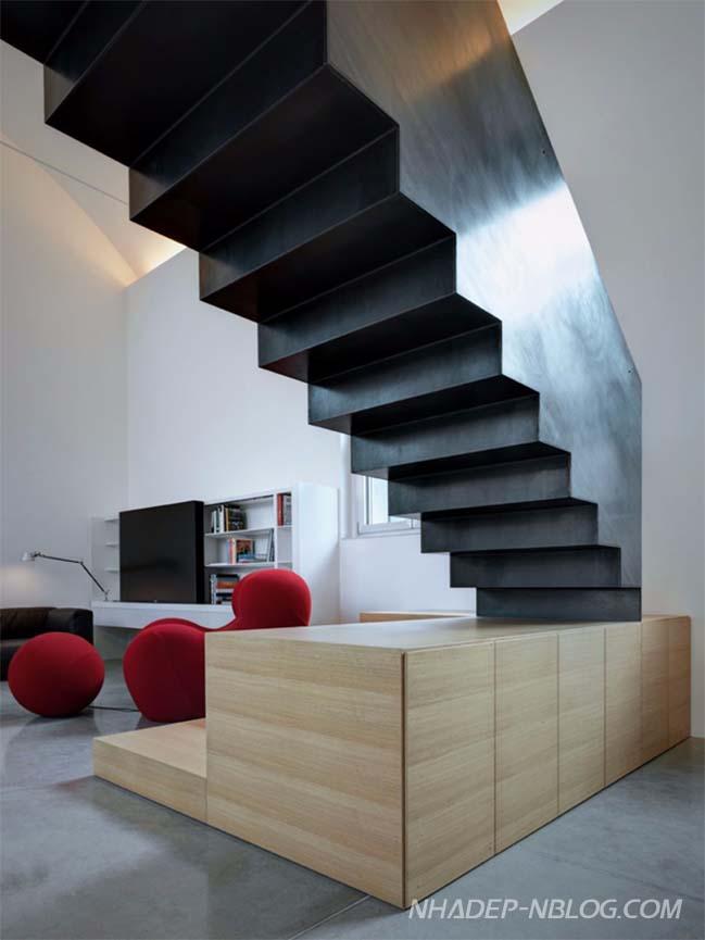 Nhà gác lửng đẹp với thiết kế hiện đại