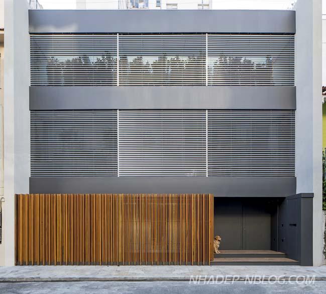 Thiết kế nhà phố đẹp 12x12 vuông vức