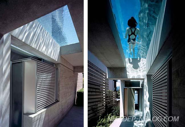 Mẫu biệt thự đẹp với thiết kế hồ bơi xuyên thấu