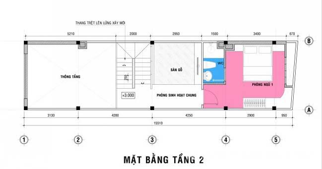 Thiết kế nhà phố đẹp 4 tầng với diện tích 4x19,8m
