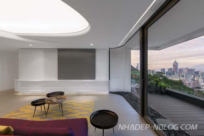 Căn hộ chung cư sang trọng với thiết kế trân độc đáo