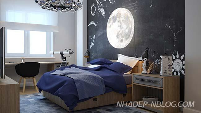 Thiết kế phòng ngủ đẹp với chủ đề không gian