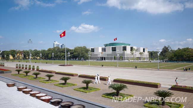 Kiến trúc hiện đại của tòa nhà Quốc Hội tại Hà Nội