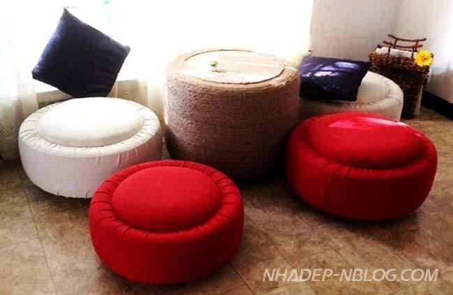 DIY: Những mẫu nội thất đẹp và sáng tạo từ vỏ bánh xe