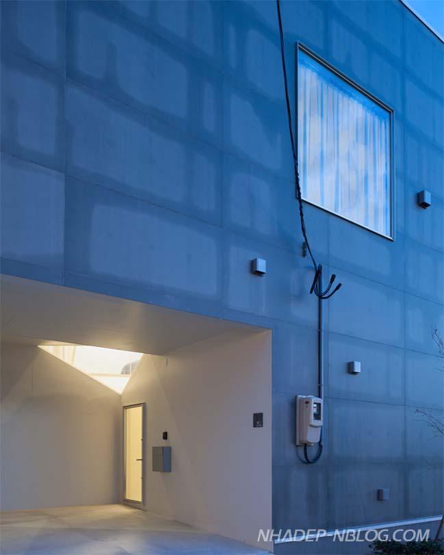 Nhà phố đẹp 2 tầng với thiết kế hình học độc đáo