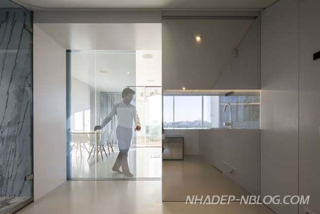 nha dep 2 tang voi thiet ke noi that kinh sang trong 03 Kiến trúc nhà đẹp 2 tầng với thiết kế nội thất kính sang trọng