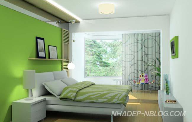 10 mẫu thiết kế phòng ngủ đẹp với tông màu xanh lá