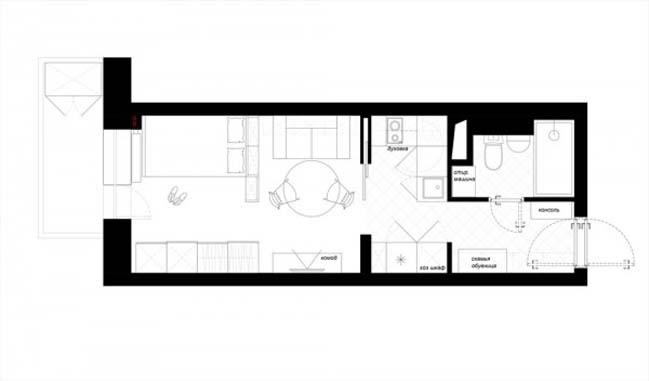 Mẫu nhà nhỏ đẹp 25m2 với tông màu trang nhã