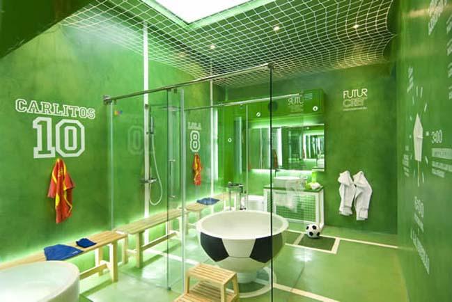 thiet ke phong tam dep voi chu de bong da 02 Cùng nhìn qua mẫu phòng tắm đẹp với chủ đề bóng đá