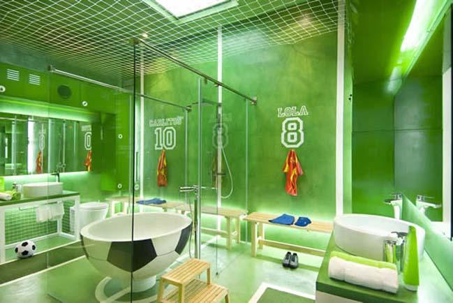 thiet ke phong tam dep voi chu de bong da 03 Cùng nhìn qua mẫu phòng tắm đẹp với chủ đề bóng đá
