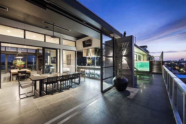 can ho penthouse voi thiet ke hien dai 01 Kiến trúc và nội thất căn hộ penthouse sang trọng với thiết kế hiện đại