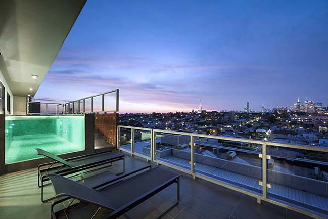 can ho penthouse voi thiet ke hien dai 02 Kiến trúc và nội thất căn hộ penthouse sang trọng với thiết kế hiện đại