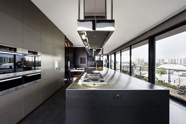 can ho penthouse voi thiet ke hien dai 03 Kiến trúc và nội thất căn hộ penthouse sang trọng với thiết kế hiện đại