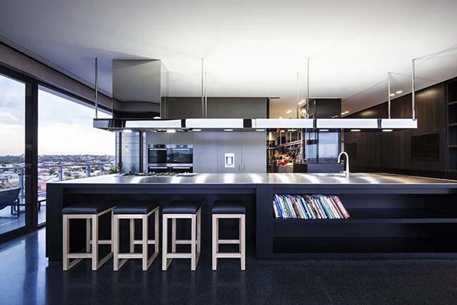 can ho penthouse voi thiet ke hien dai 04 Kiến trúc và nội thất căn hộ penthouse sang trọng với thiết kế hiện đại