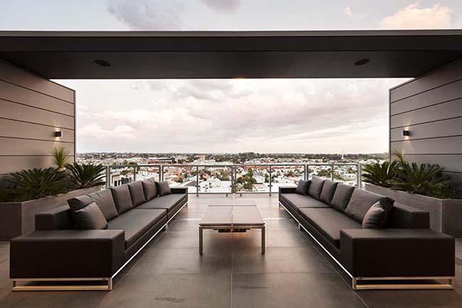 can ho penthouse voi thiet ke hien dai 06 Kiến trúc và nội thất căn hộ penthouse sang trọng với thiết kế hiện đại