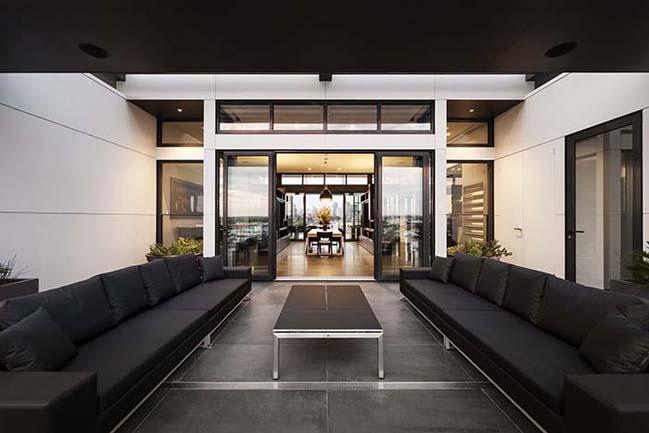 can ho penthouse voi thiet ke hien dai 07 Kiến trúc và nội thất căn hộ penthouse sang trọng với thiết kế hiện đại