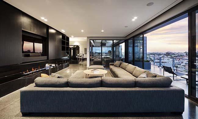 can ho penthouse voi thiet ke hien dai 08 Kiến trúc và nội thất căn hộ penthouse sang trọng với thiết kế hiện đại