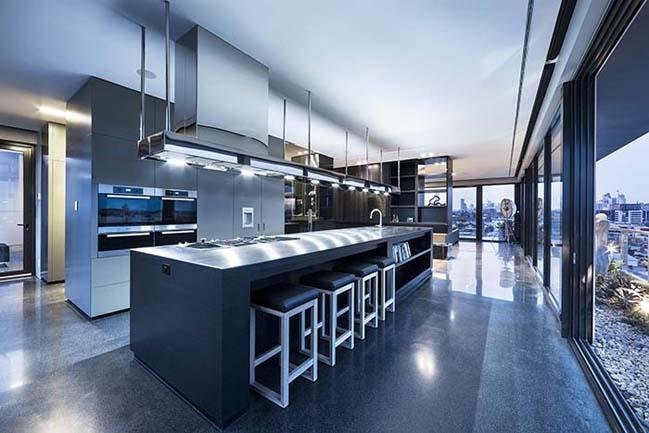 can ho penthouse voi thiet ke hien dai 11 Kiến trúc và nội thất căn hộ penthouse sang trọng với thiết kế hiện đại