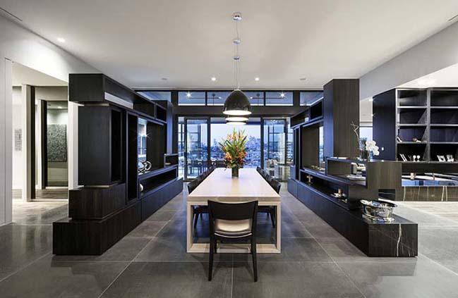 can ho penthouse voi thiet ke hien dai 12 Kiến trúc và nội thất căn hộ penthouse sang trọng với thiết kế hiện đại