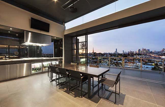 can ho penthouse voi thiet ke hien dai 13 Kiến trúc và nội thất căn hộ penthouse sang trọng với thiết kế hiện đại