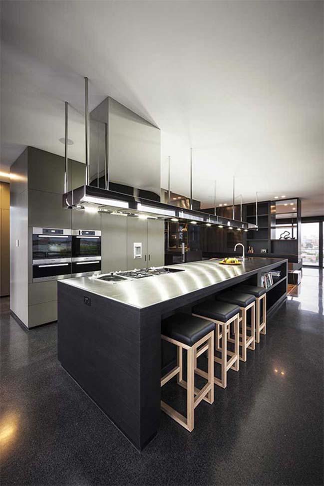 can ho penthouse voi thiet ke hien dai 14 Kiến trúc và nội thất căn hộ penthouse sang trọng với thiết kế hiện đại