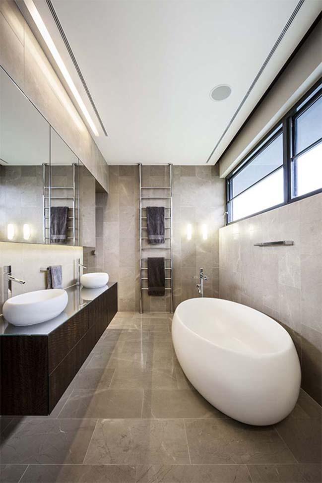 can ho penthouse voi thiet ke hien dai 15 Kiến trúc và nội thất căn hộ penthouse sang trọng với thiết kế hiện đại