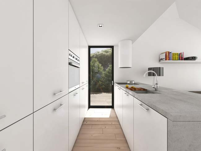 mau nha gac lung dep 08 Mẫu thiết kế nhà gác lửng đẹp với nội thất trắng sang trọng
