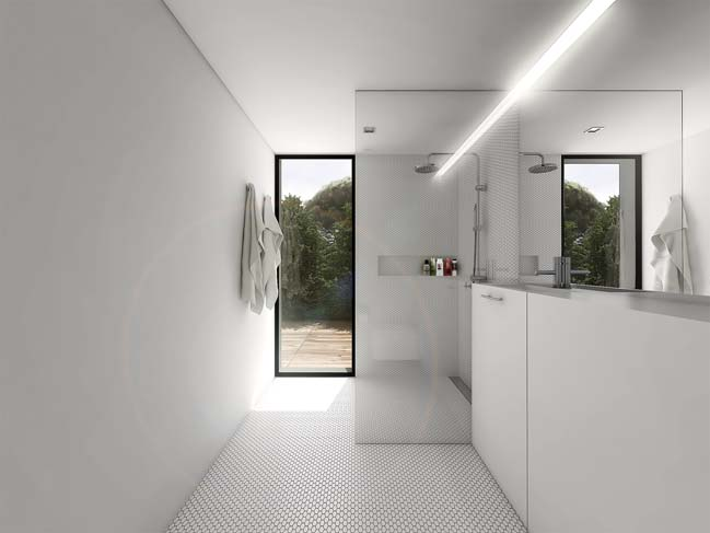 mau nha gac lung dep 09 Mẫu thiết kế nhà gác lửng đẹp với nội thất trắng sang trọng